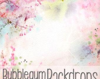 Floral Watercolor - Vinyl Photography Backdrop Prop
