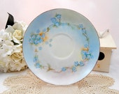 Vintage Antique Bavaria Plate Blue Floral