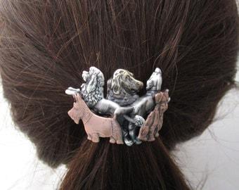 Dog Ponytail Holder- Dog Lover Gift- Hair Accessories- Ponytail Holder- Dog Groomer