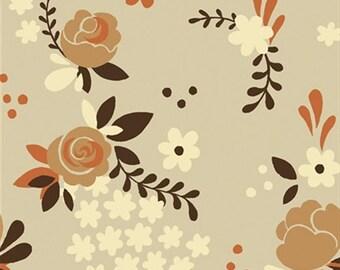 Birch Organic Fabrics Fort Firefly Rose Garden Taupe
