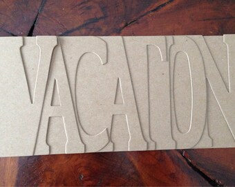 Vacation bare chipboard album