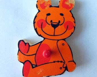 Vintage puzzle piece magnet/ Teddybear/ Simplex magnet
