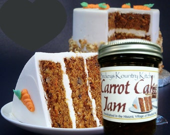Homemade Carrot Cake Jam, Handmade fruit spread, Deliciously Sweet, jam  jelly fruit preserves