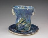 Cool Blue Kiddush Cup with handles