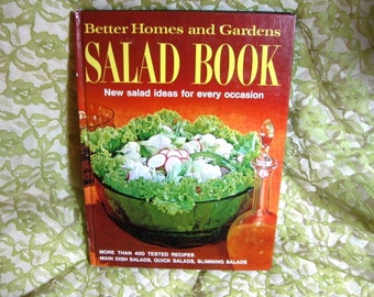 Better Home and Gardens Salad Book Great,Gifts under 25 dollars, Vintage cookbook