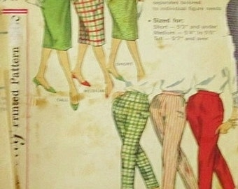 Vintage simplicity pattern 1950 pants and skirt