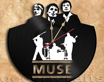 Wall Clock Muse Vinyl Record Clock Upcycled Gift Idea