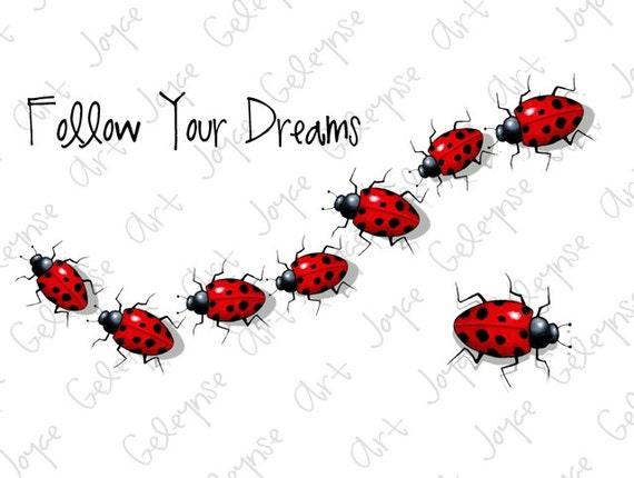 Follow Your Dreams Clipart Printable Clip ...