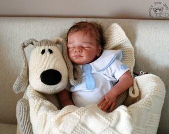 Dog Toy Baby Blanket - pdf knitting pattern