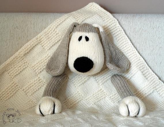 Dog Toy Baby Blanket knitting pattern by deniza17 on Etsy