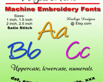 Download Machine Embroidery Alphabet Angelina Font