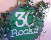 30th Birthday  Decorations Giant  Party Sign  30 Rocks
