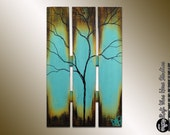 Extra Large Abstract Tree  - Summer Tree Painting - Seasons of Changei