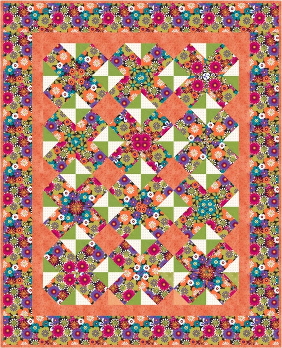 Easy Kaleidoscope Quilt Pattern Table Topper Or Baby Lap