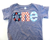 Nautical Sailor Ships Sweet Pirate Blend Birthday Shirt on triblend grey for one year old bunting flags dots chevron