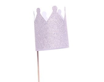 Silver Crown / Gold Crown Cupcake Toppers - Princess Cupcake Toppers - Prince Cupcake Topper -  Princess Party - Prince Party