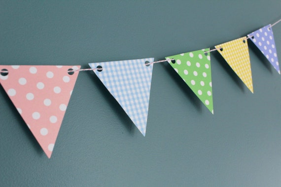 Pastel Bunting Garland - Baby - Easter - Spring - Photography Prop