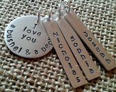 I Love You a Bushel and a Peck Necklace, Personalized Grandma Necklace - Mother Necklace - Mom Necklace