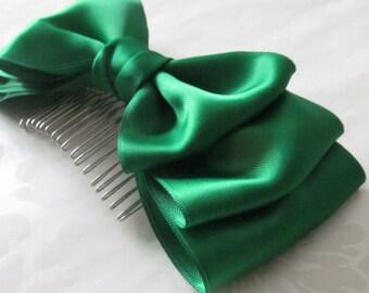 Hair Bow Comb /  Headband with Bow /  Bow Headband