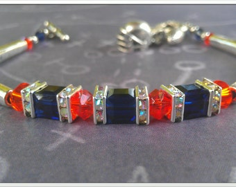 Inspired by the Denver Broncos Crystal Bracelet