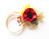 Fall Wedding Corsage-Wedding Wrist Corsage-Fall Wedding Wrist Corsage-Autumn Wedding-FALL WHEAT Collection