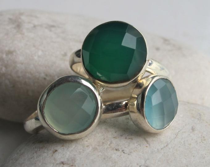 Amethyst Ring- Quartz Ring- Topaz Rings- Stone Rings- Blue Stone Ring - Onyx Ring- Chalcedony Ring- Gemstone Ring- Filigree Ring