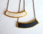 RECTANGULAR BAR // Geometric necklace