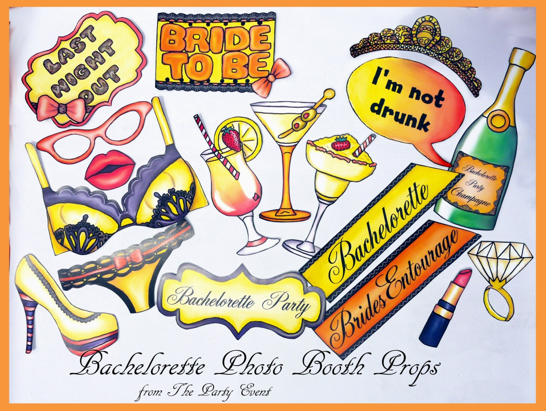 Bachelorette Party Photo Props Bachelorette Photo Booth Props