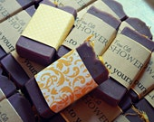 25 Mini Soap Favors // Custom or Ready To Ship // wedding favors, shower favors, baby shower // Personalized label message