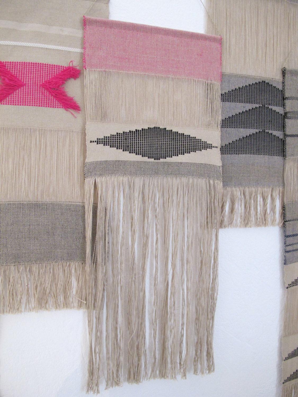 tenture murale tiss e main tissage tapisserie art textile. Black Bedroom Furniture Sets. Home Design Ideas