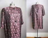 1960s Evening Coat Vintage 60s Jacket Nefertiti Embroidered / Large