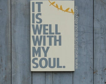 It is Well with my Soul - Hymn Wall Art - Gospel Wall Art - Scripture Wall Art - Birds On A Wire- Inspirational Wall Art - Inspirational Art