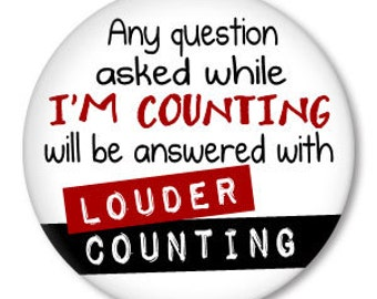 COUNTING funny knitting, crochet, yarn, knit button-badge pin, magnet ...