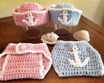 Sailor/Nautical photo prop sets in pink OR blue