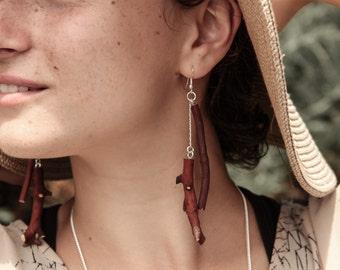 Arbutus Branch Tasle Earings - Fallen Arbutus - Wood Earings - Arbutiful Collection