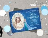 FROZEN Birthday Invitation / Photo Card Printable