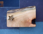 Customized Wedding Gift- Small Black Cherry Cutting Board with Live Edge and Barked Scoop- Unique Personalized Gift 566