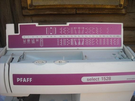 Machine coudre pfaff select 1528 - Reparation machine a coudre pfaff ...