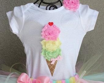 Ice Cream shirt, Birthday Shirt, Birthday bodysuit, Birthday outfit, Ice Cream Party, BUTTERMINT, Ice Cream Cone Bodysuit or Shirt Only