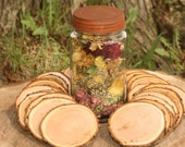 Rustic Wood Disc 15 Dried Tree Slices Cherry Approximate 3 to 3.5 Inch Diameter Coaster Size-Wood Burning-Name Tags-Wedding Decor-Art