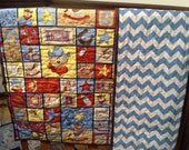 Buck A Roo Baby Crib, Toddler, Playmat, Cot by South Sea Imports featuring Blues, Yellows, Browns and Items - Country Western