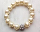 Pearl Bracelet, Wedding Jewelry, Jewelry Wedding, Bridesmaid Gifts,  Pearl wedding Bracelet, wedding bracelet , Swarovski Pearls