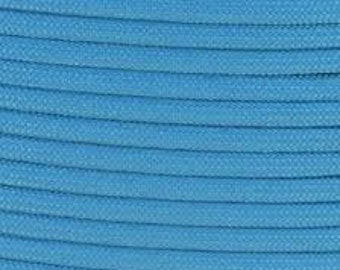 100 ft hank of Baby Blue 550 Paracord
