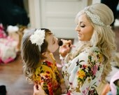 Flower girls Robe, For Junior  Child - Kid Bridesmaids, 1-13 year old - Kimono robe for children different colour