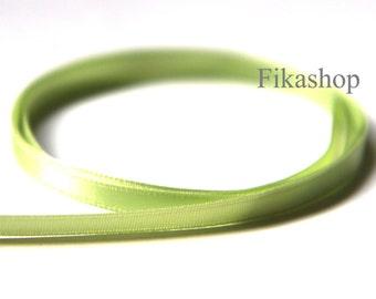10 yards 5mm One Sided Light Green Satin Ribbon Satin Ribbon 50% OFF SALE (KR0026) - Fikashop