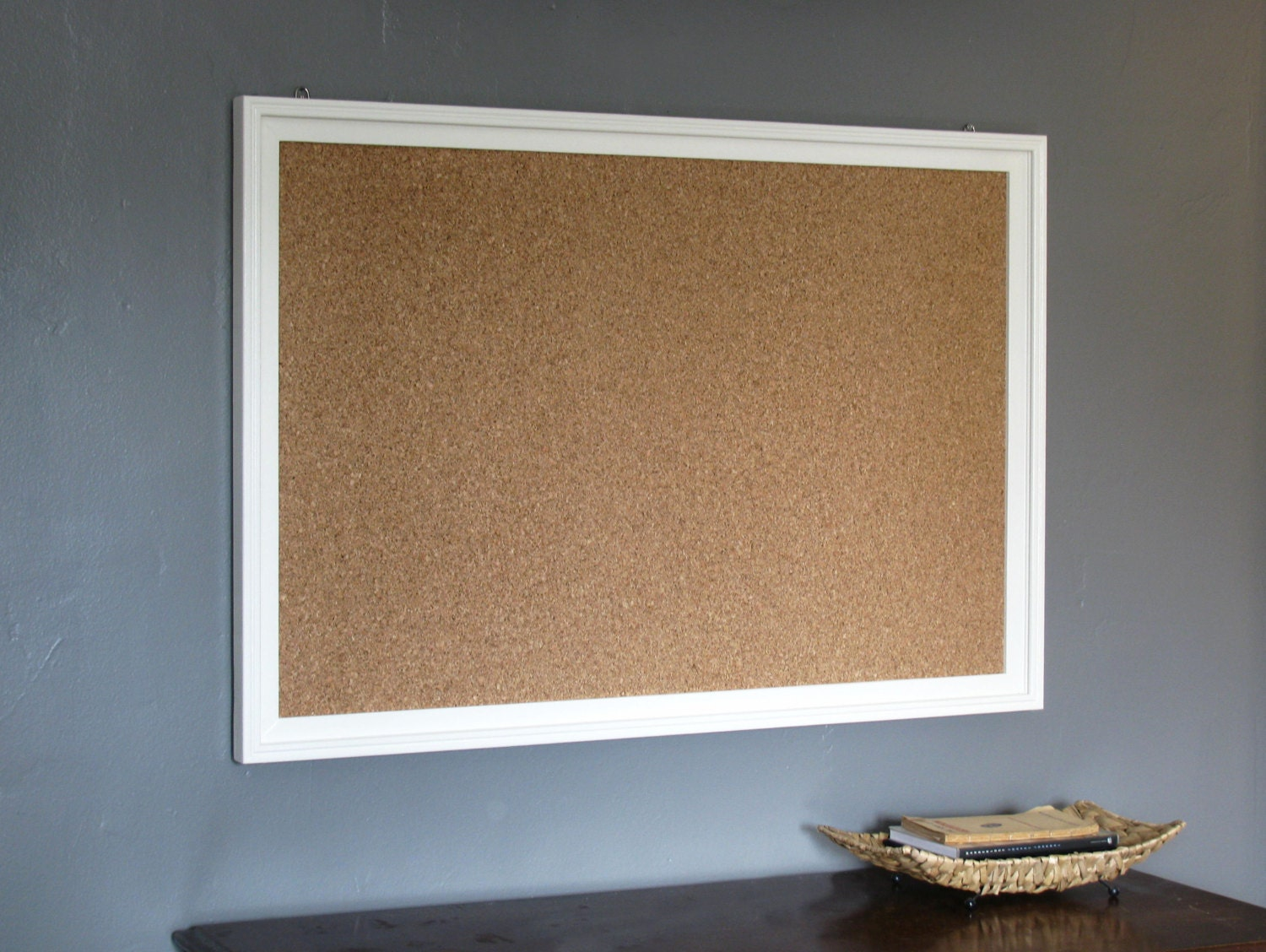 Customizable Wood Frame Cork Board 24 X 36 By