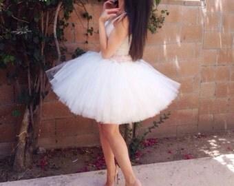 Adult Tutu Dress - Party Dress - Birthday Tutu Dress - Bridal Shower Dress - Bridesmaid Dress - Vintage Wedding Dress - ALL COLORS
