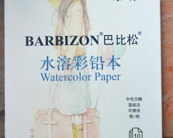 A Pad of 10 Sheets 10.5cm x 15.5cm 300g Canson Barbizon Watercolor Paper