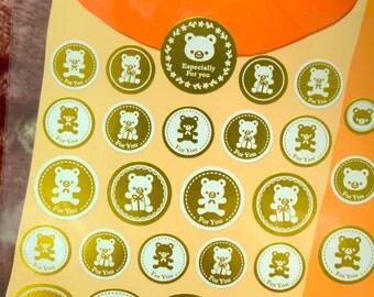 A set of Japanese Gift Seal - Teddy Bear
