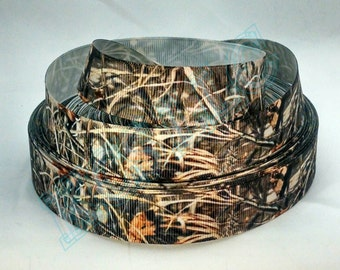 7/8 Grosgrain Real Tree Grass Camo Ribbon 2 yards